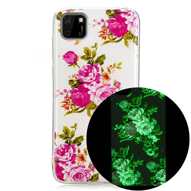 Peony Noctilucent Soft TPU Back Cover for Huawei Y5p