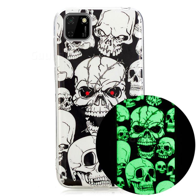 Red-eye Ghost Skull Noctilucent Soft TPU Back Cover for Huawei Y5p