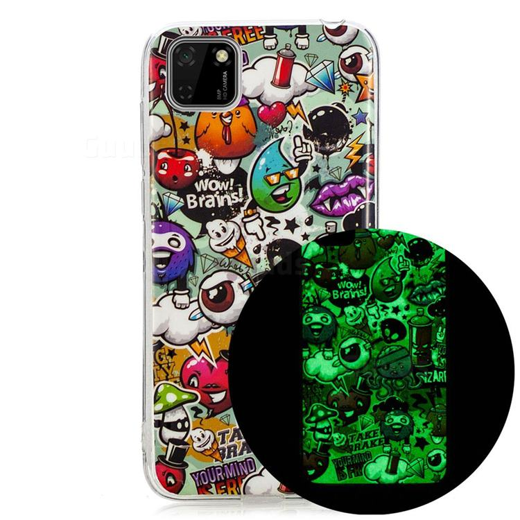 Trash Noctilucent Soft TPU Back Cover for Huawei Y5p