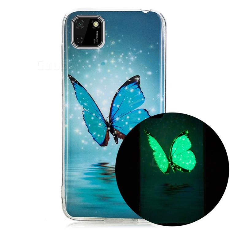 Butterfly Noctilucent Soft TPU Back Cover for Huawei Y5p