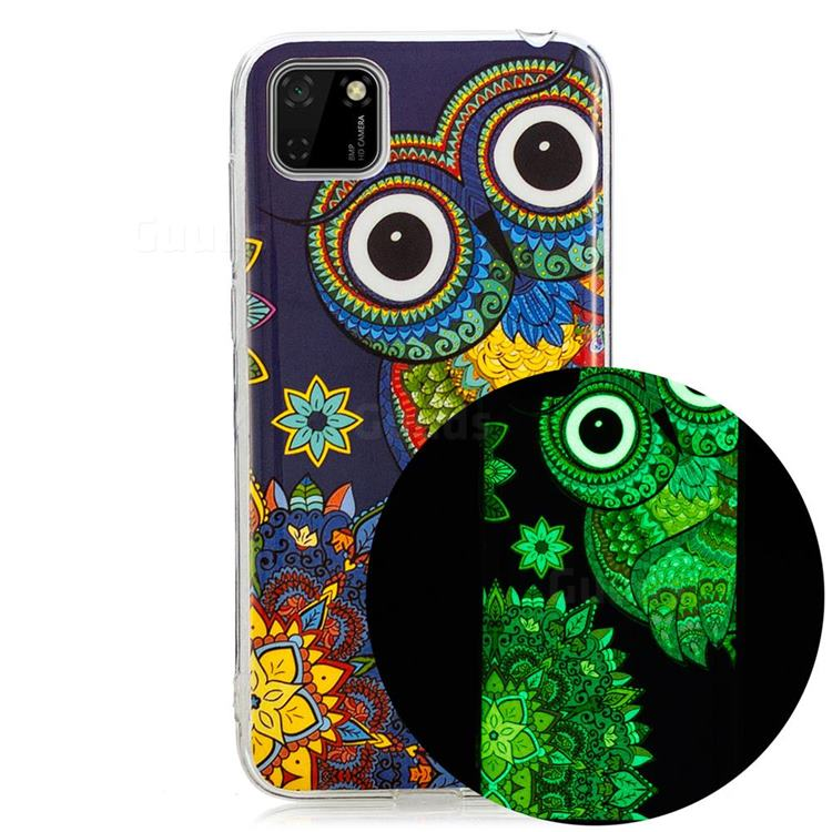 Tribe Owl Noctilucent Soft TPU Back Cover for Huawei Y5p