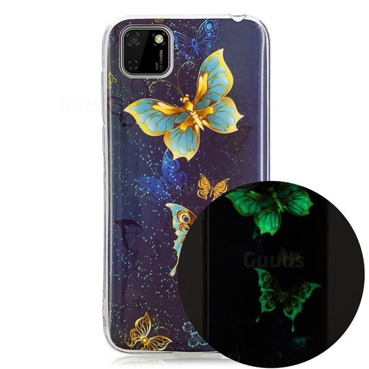 Golden Butterflies Noctilucent Soft TPU Back Cover for Huawei Y5p