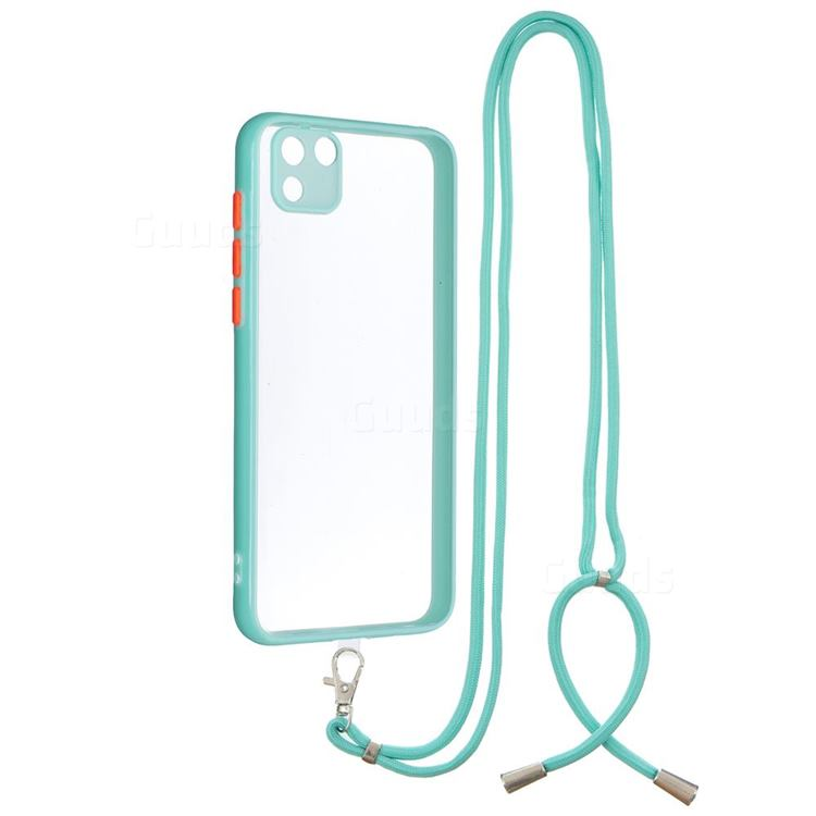 Necklace Cross-body Lanyard Strap Cord Phone Case Cover for Huawei Y5p - Blue