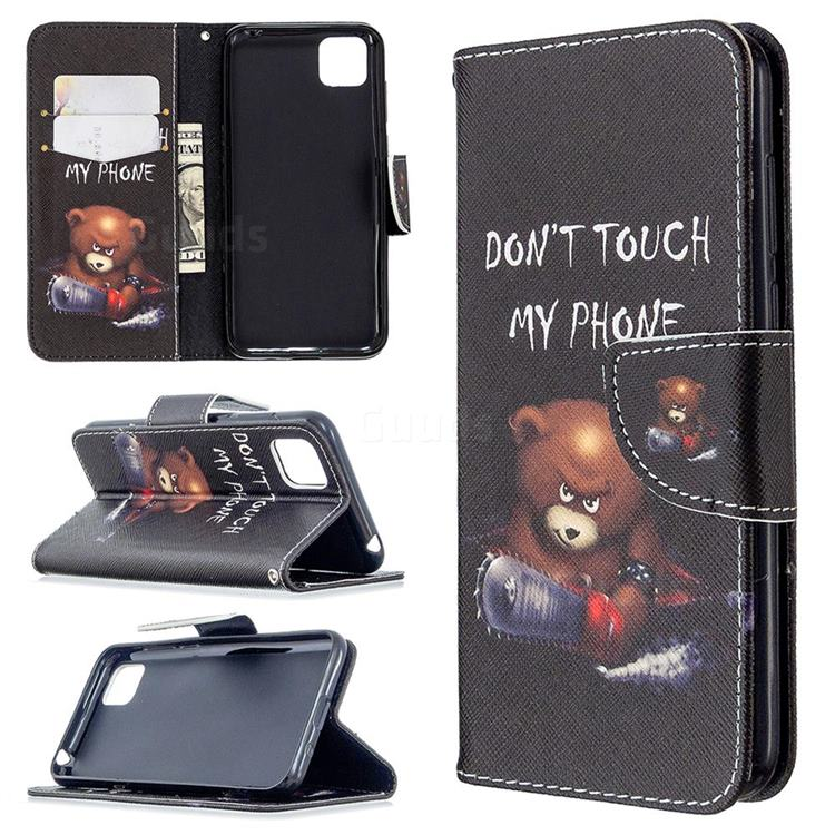 Chainsaw Bear Leather Wallet Case for Huawei Y5p