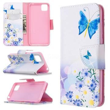 Butterflies Flowers Leather Wallet Case for Huawei Y5p