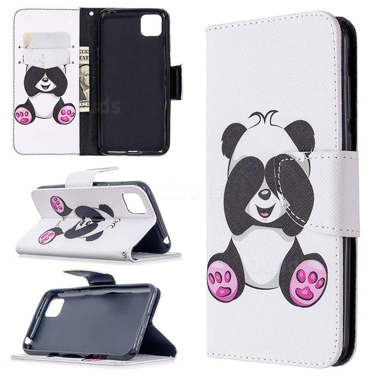 Lovely Panda Leather Wallet Case for Huawei Y5p