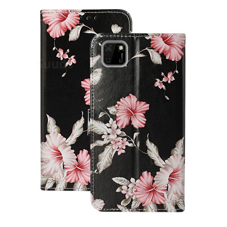 Azalea Flower PU Leather Wallet Case for Huawei Y5p