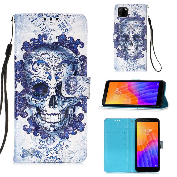Cloud Kito 3D Painted Leather Wallet Case for Huawei Y5p