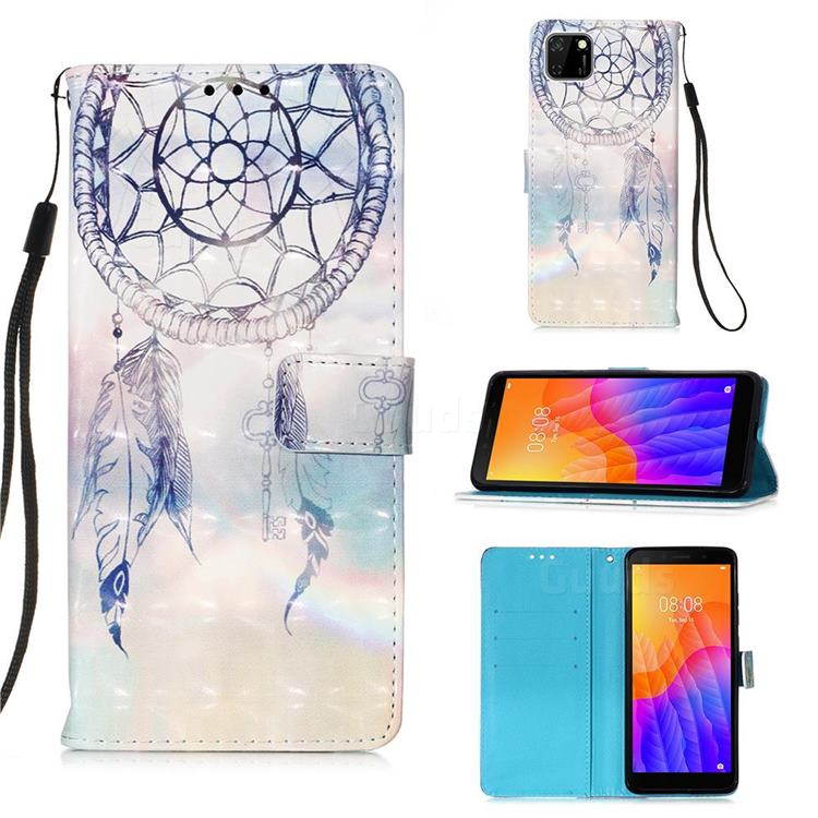 Fantasy Campanula 3D Painted Leather Wallet Case for Huawei Y5p