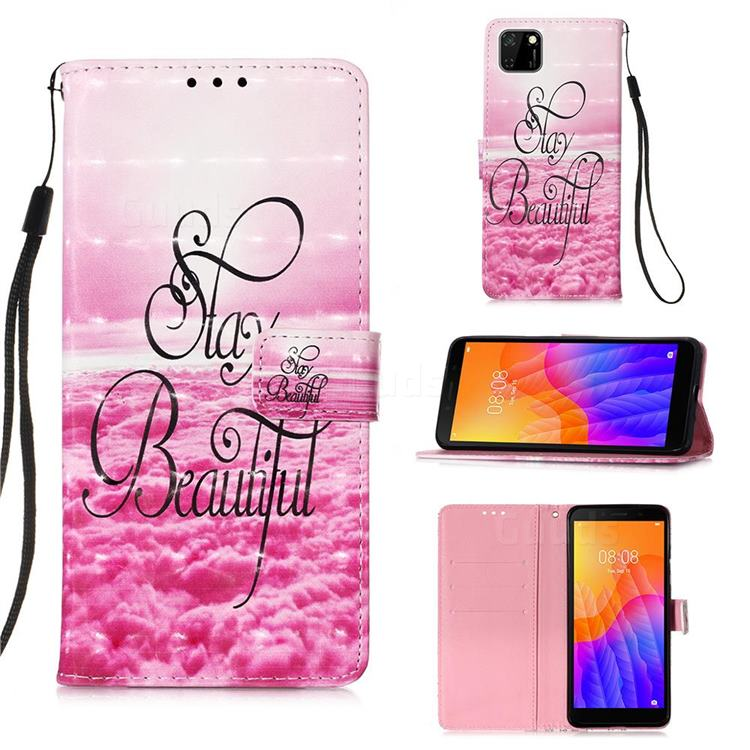 Beautiful 3D Painted Leather Wallet Case for Huawei Y5p