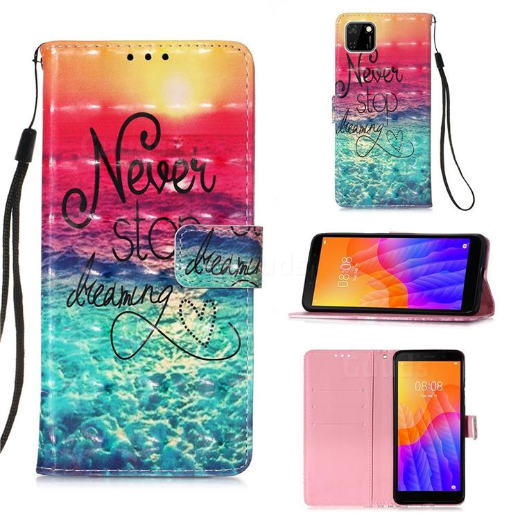 Colorful Dream Catcher 3D Painted Leather Wallet Case for Huawei Y5p