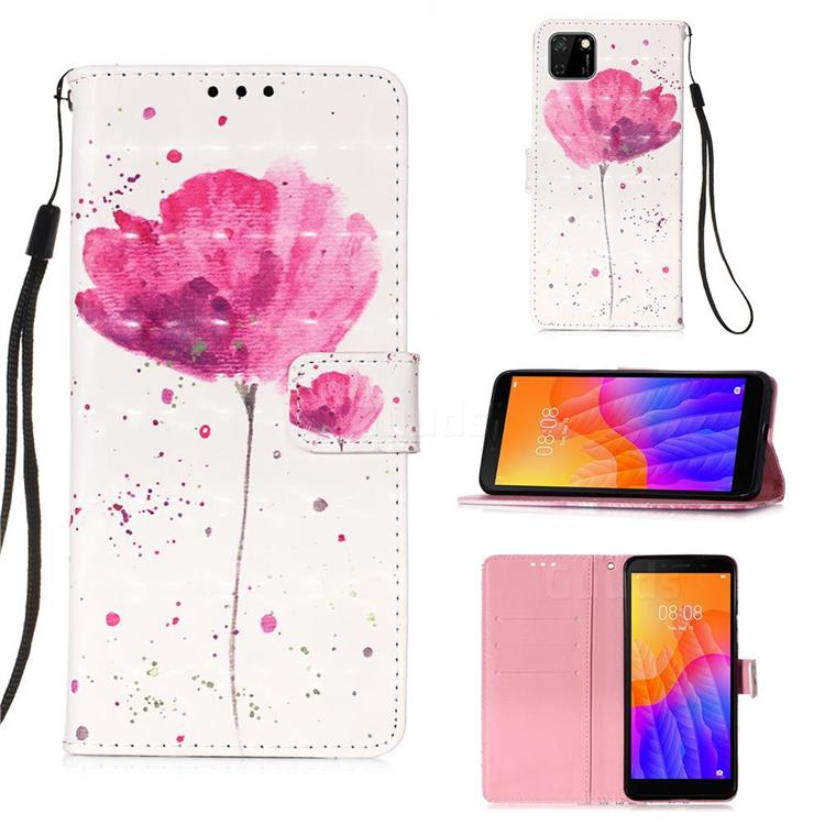 Watercolor 3D Painted Leather Wallet Case for Huawei Y5p