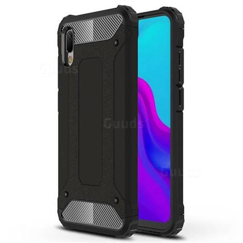 King Kong Armor Premium Shockproof Dual Layer Rugged Hard Cover for Huawei Y6 (2019) - Black Gold