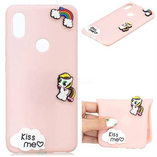 Kiss me Pony Soft 3D Silicone Case for Huawei Y6 (2019)