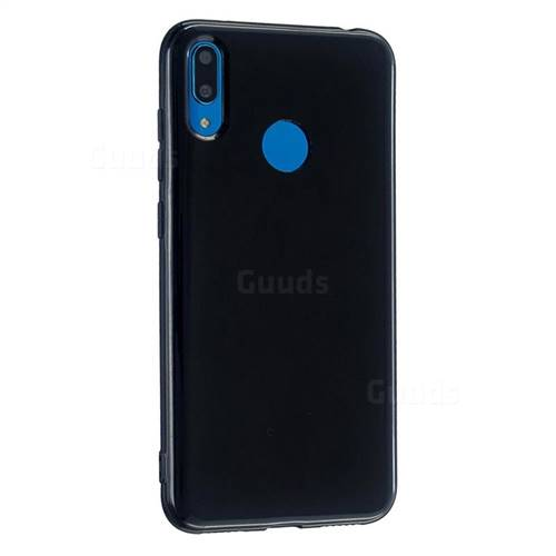 2mm Candy Soft Silicone Phone Case Cover for Huawei Y6 (2019) - Black