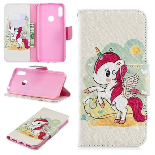 Cloud Star Unicorn Leather Wallet Case for Huawei Y6 (2019)