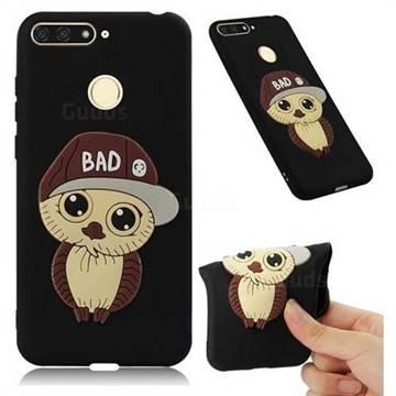 Bad Boy Owl Soft 3D Silicone Case for Huawei Y6 (2018) - Black