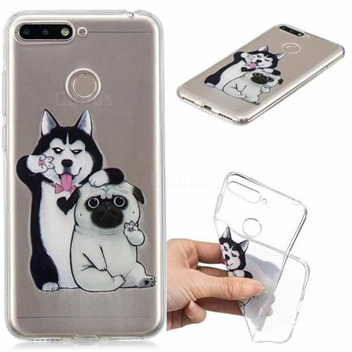 Selfie Dog Clear Varnish Soft Phone Back Cover for Huawei Y6 (2018)