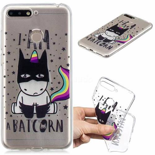 Batman Clear Varnish Soft Phone Back Cover for Huawei Y6 (2018)