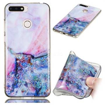 Purple Amber Soft TPU Marble Pattern Phone Case for Huawei Y6 (2018)