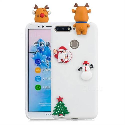 White Elk Christmas Xmax Soft 3D Silicone Case for Huawei Y6 (2018)