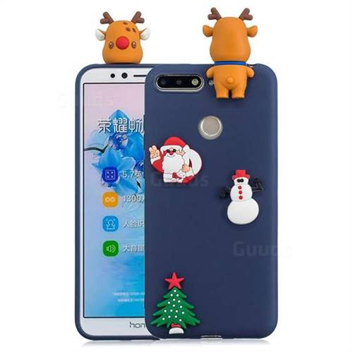Navy Elk Christmas Xmax Soft 3D Silicone Case for Huawei Y6 (2018)