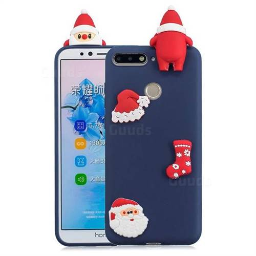 Navy Santa Claus Christmas Xmax Soft 3D Silicone Case for Huawei Y6 (2018)