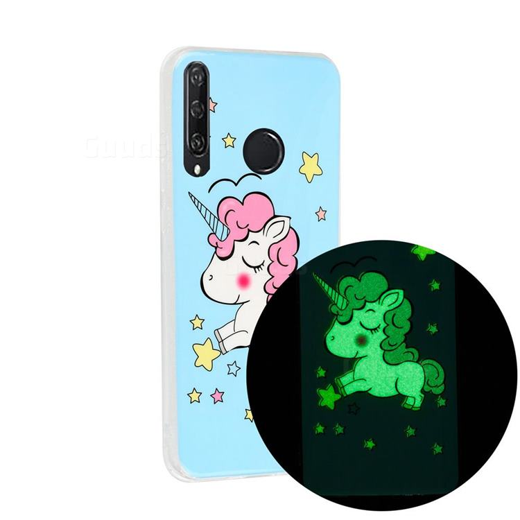 Stars Unicorn Noctilucent Soft TPU Back Cover for Huawei Y6p