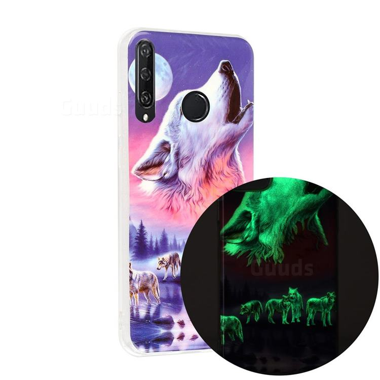 Wolf Howling Noctilucent Soft TPU Back Cover for Huawei Y6p