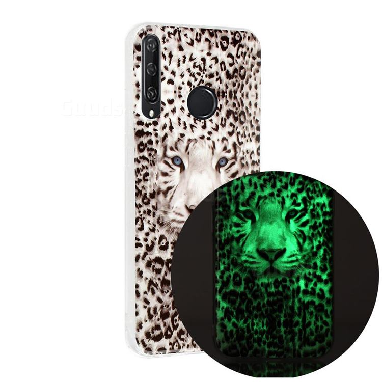 Leopard Tiger Noctilucent Soft TPU Back Cover for Huawei Y6p