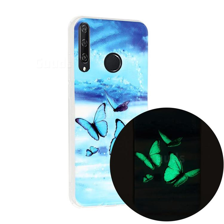 Flying Butterflies Noctilucent Soft TPU Back Cover for Huawei Y6p