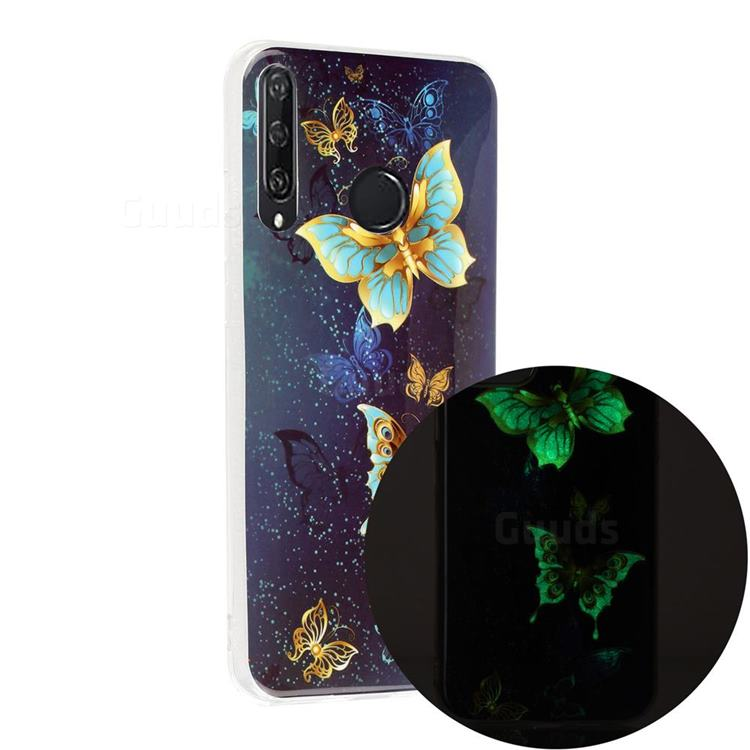 Golden Butterflies Noctilucent Soft TPU Back Cover for Huawei Y6p