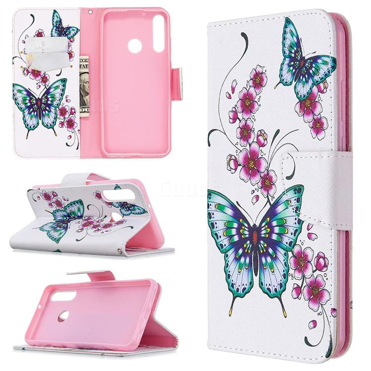 Tree and Owls Leather Wallet Case for Huawei Y6p
