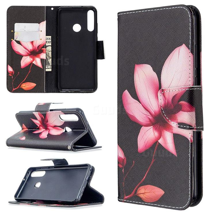 Lotus Flower Leather Wallet Case for Huawei Y6p