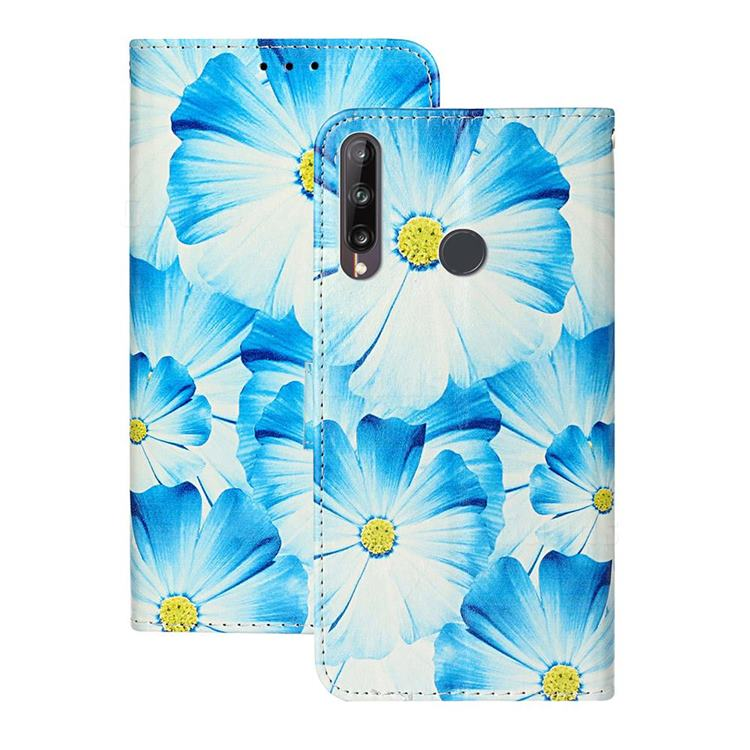 Orchid Flower PU Leather Wallet Case for Huawei Y6p