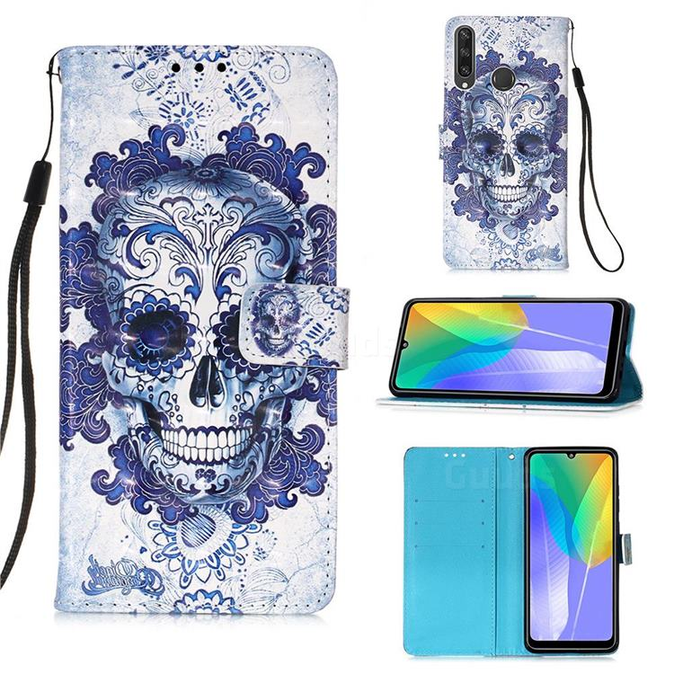 Cloud Kito 3D Painted Leather Wallet Case for Huawei Y6p