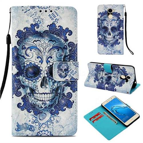Cloud Kito 3D Painted Leather Wallet Case for Huawei Y7(2017)