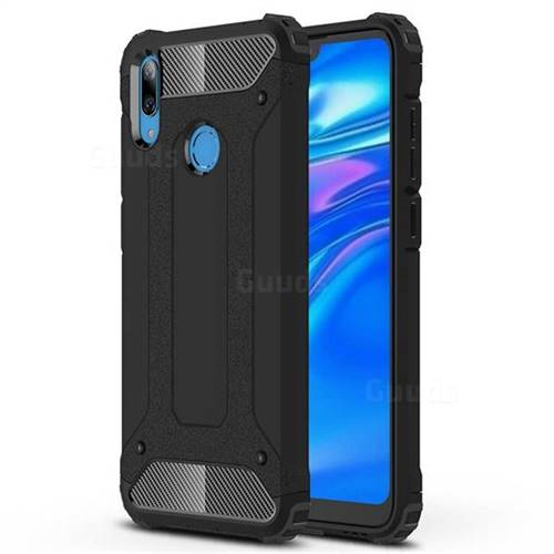 King Kong Armor Premium Shockproof Dual Layer Rugged Hard Cover for Huawei Y7(2019) / Y7 Prime(2019) / Y7 Pro(2019) - Black Gold