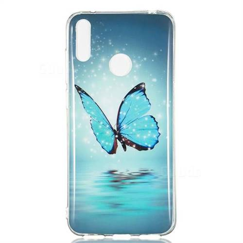 Butterfly Noctilucent Soft TPU Back Cover for Huawei Y7(2019) / Y7  Prime(2019) / Y7 Pro(2019)