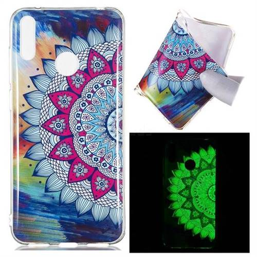 Colorful Sun Flower Noctilucent Soft TPU Back Cover for Huawei Y7(2019) /  Y7 Prime(2019) / Y7 Pro(2019)