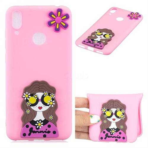 Violet Girl Soft 3D Silicone Case for Huawei Y7(2019) / Y7 Prime(2019) / Y7 Pro(2019)