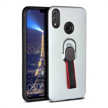 Raytheon Multi-function Ribbon Stand Back Cover for Huawei Y7(2019) / Y7  Prime(2019) / Y7 Pro(2019) - Silver
