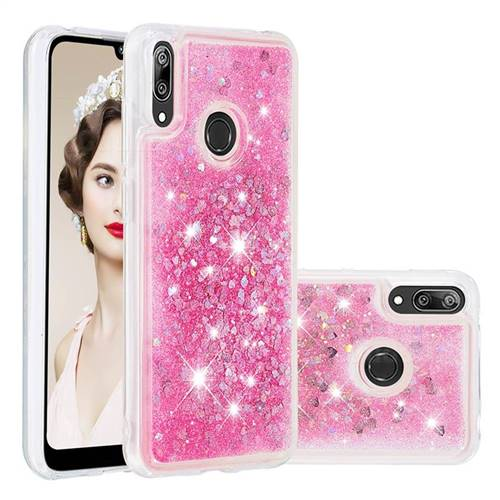 Dynamic Liquid Glitter Quicksand Sequins TPU Phone Case for Huawei Y7(2019) / Y7 Prime(2019) / Y7 Pro(2019) - Rose