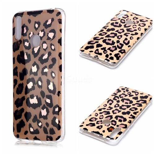 Leopard Galvanized Rose Gold Marble Phone Back Cover for Huawei Y7(2019) / Y7 Prime(2019) / Y7 Pro(2019)