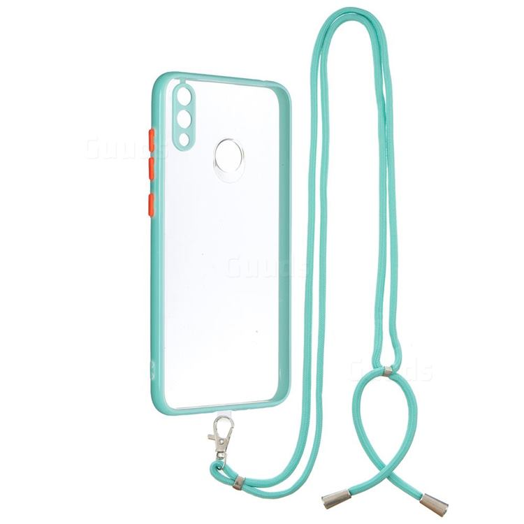 Necklace Cross-body Lanyard Strap Cord Phone Case Cover for Huawei Y7(2019) / Y7 Prime(2019) / Y7 Pro(2019) - Blue