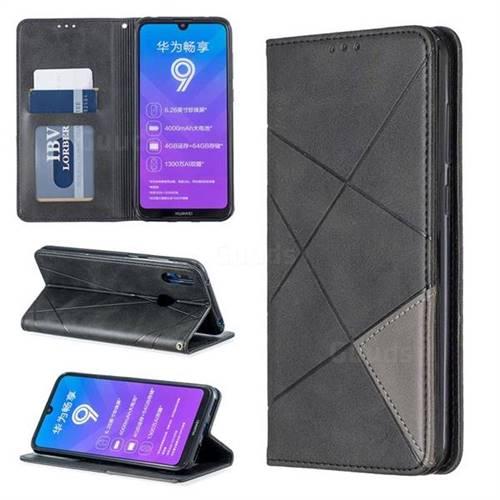 best website 04e5b 6c772 Prismatic Slim Magnetic Sucking Stitching Wallet Flip Cover for Huawei  Y7(2019) / Y7 Prime(2019) / Y7 Pro(2019) - Black