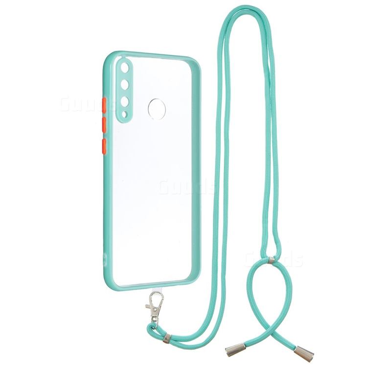Necklace Cross-body Lanyard Strap Cord Phone Case Cover for Huawei Y7p - Blue