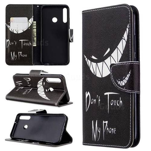 Crooked Grin Leather Wallet Case for Huawei Y7p