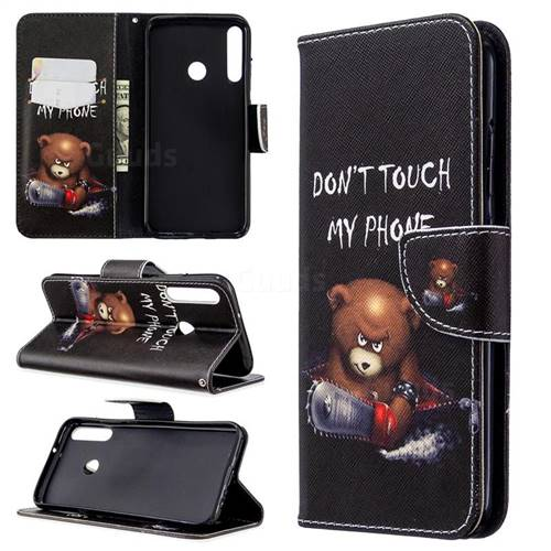 Chainsaw Bear Leather Wallet Case for Huawei Y7p
