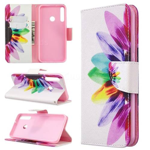 Seven-color Flowers Leather Wallet Case for Huawei Y7p